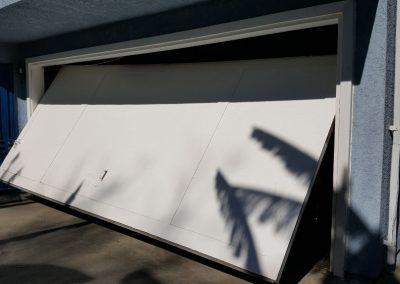 Broken Garage Door - Side View
