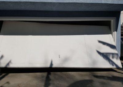 Broken Garage Door - Front View