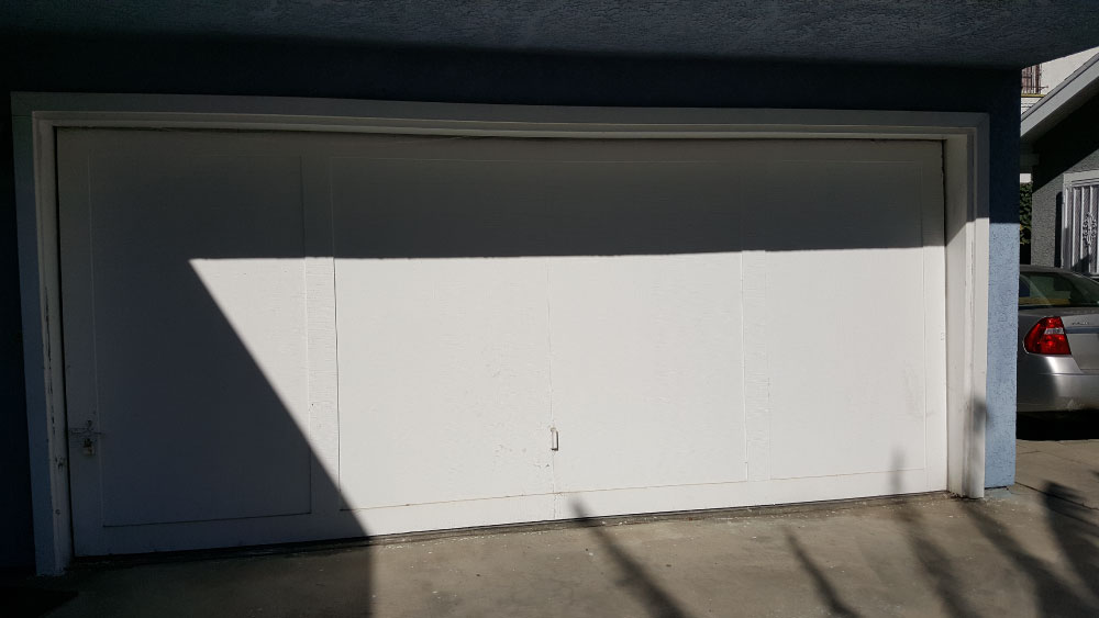 Repaired Garage Door